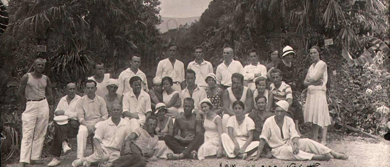 Снимок сделан в Никитском ботаническом саду. 1935 год.