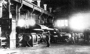 Вид на цех № 3 завода № 268, г. Каменск-Уральский. 1943 год
