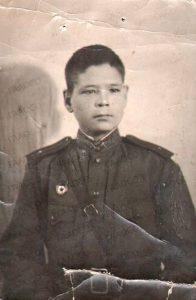Фотография Якова Ивановича Подкорытова. г. Казань. 3 января 1944 года. (ГААОСО. Ф. Р-1. Оп. 1. Д. 5113. Л. 17)