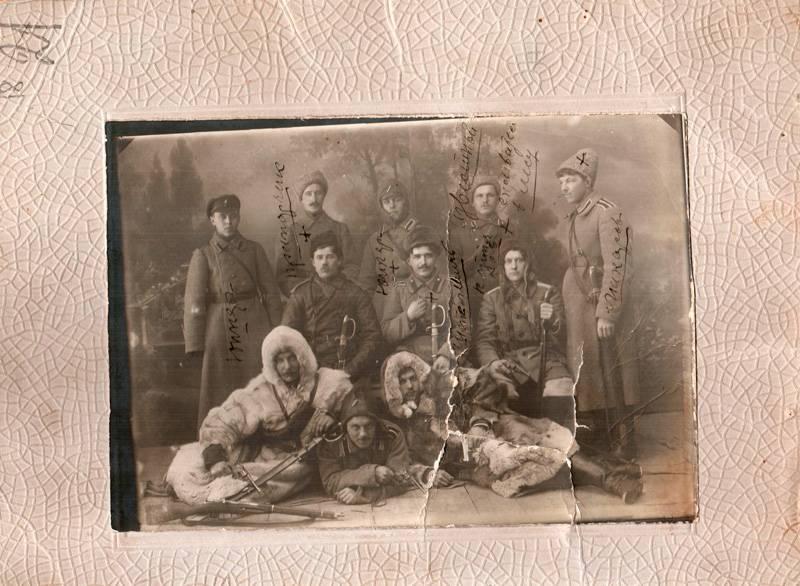 Фотография участников карательного отряда «князя Вяземского». [1918-1919] гг.