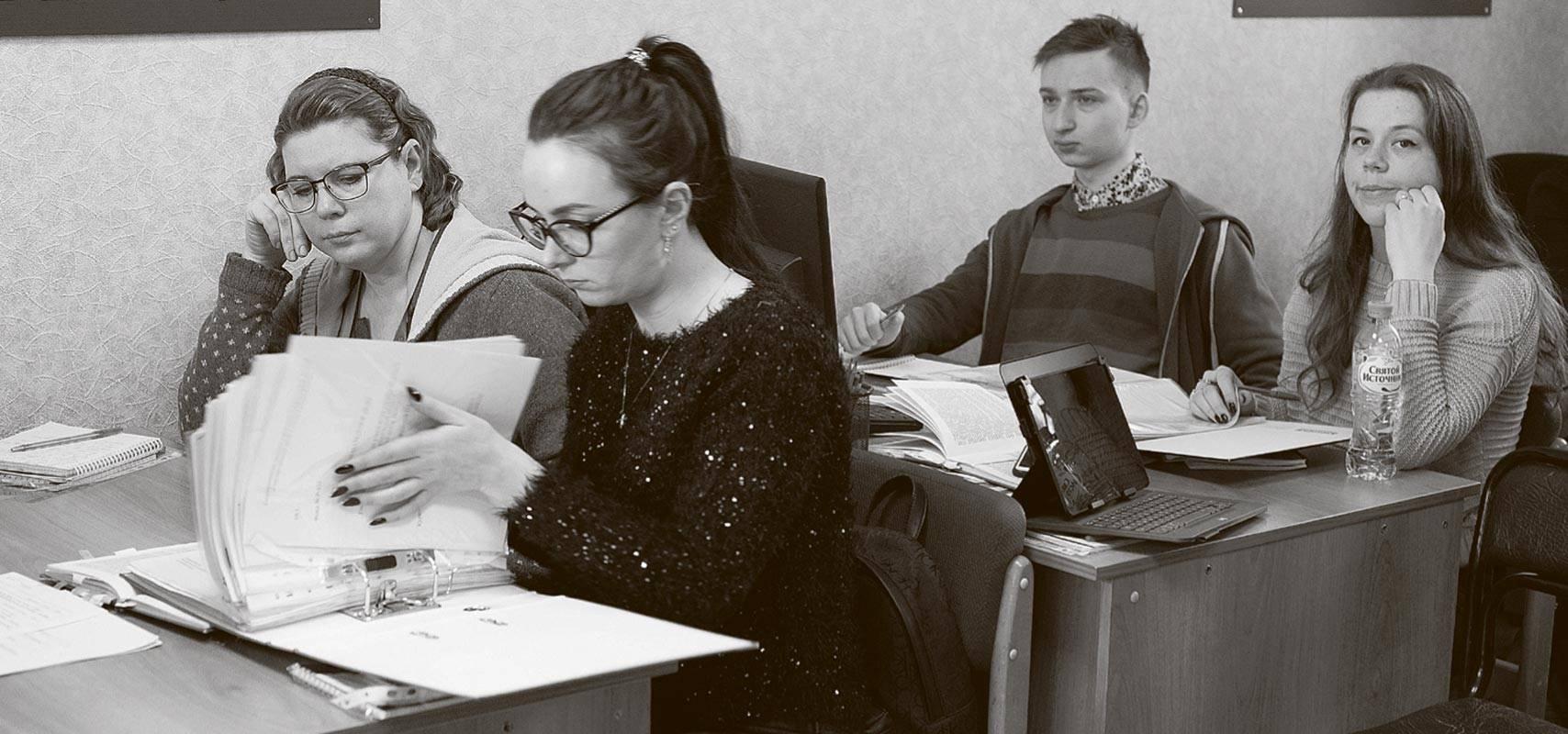 Студенты учебного курса «Заря-7».