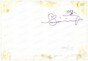 Оборотная сторона фотографии Г.Б. Зайцева, г. Екатеринбург, 1993 г. (ГААОСО. Ф. Р-1. Оп. 1. Д. 23512. Л. 15 об.)