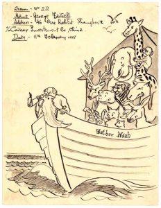 Рисунок «Ноев Ковчег». 1948 г. (ГААОСО. Ф. Р-1. Оп. 1. Д. 23512. Л. 57)