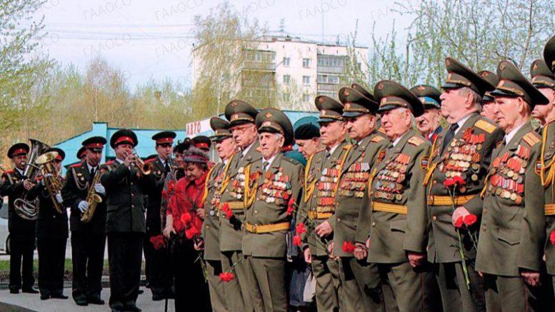 Ветераны ВОВ на торжественном мероприятии