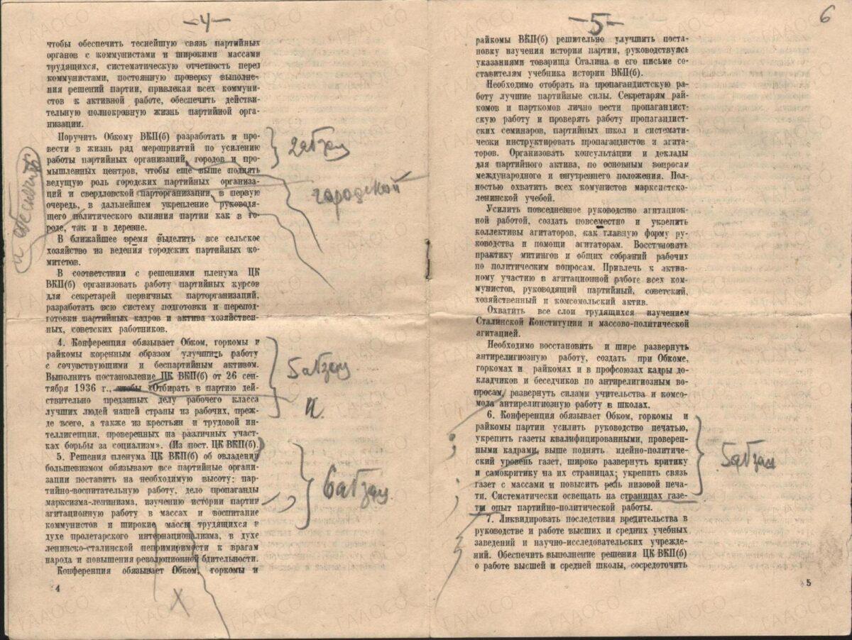 Резолюция II Свердловской областной конференции ВКП(б)